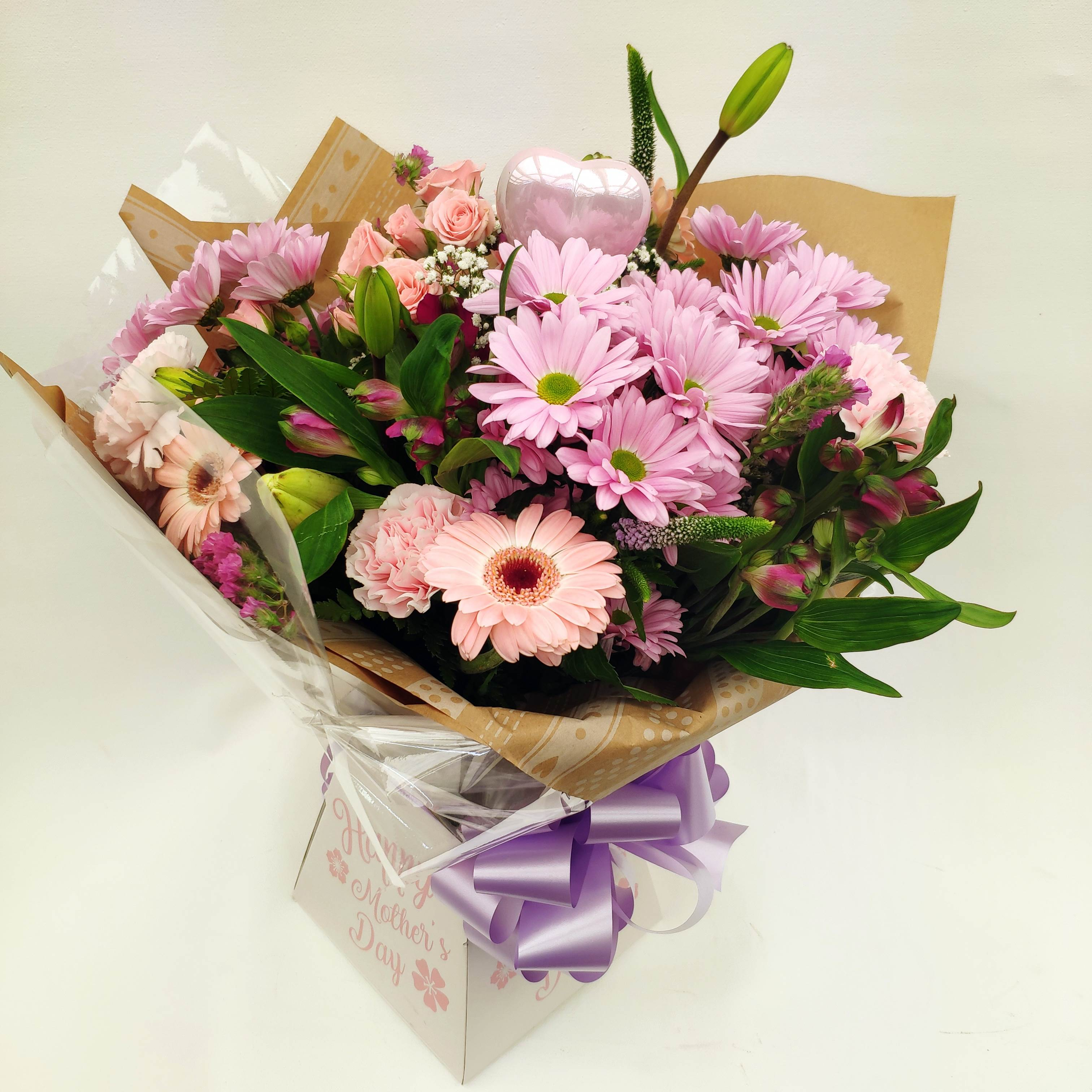 Hostess Aquapacked In Glass Vase And Gift Box Gibral Flora Flowers